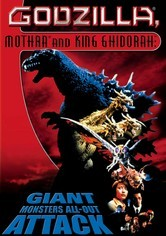 Rent Godzilla, Mothra and King Ghidorah on DVD