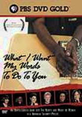 Rent What I Want My Words to Do to You on DVD