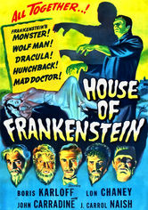 Rent House of Frankenstein on DVD