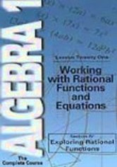 Rent Algebra 1: Lesson 21 on DVD